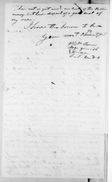 Philemon Thomas to Andrew Jackson, March 22, 1815