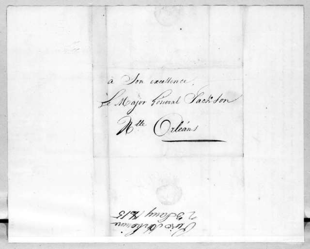 Pierre Cherbonnier to Andrew Jackson, January 22, 1815