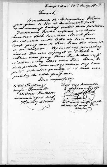 Pierre Denis de LaRonde to Andrew Jackson, January 27, 1815