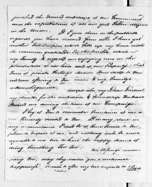 Pierre Denis de LaRonde to Andrew Jackson, July 28, 1815