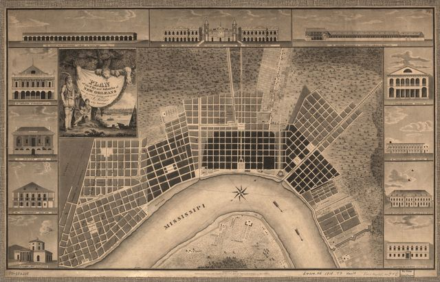 Plan of the city and suburbs of New Orleans : from an actual survey made in 1815 /