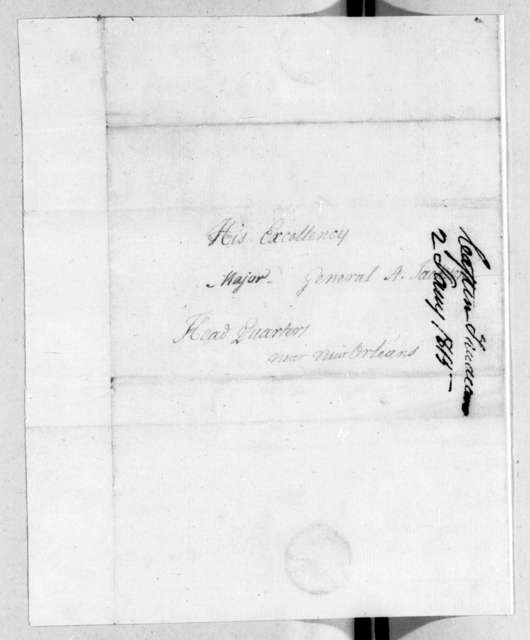 Rene Trudeau to Andrew Jackson, January 2, 1815