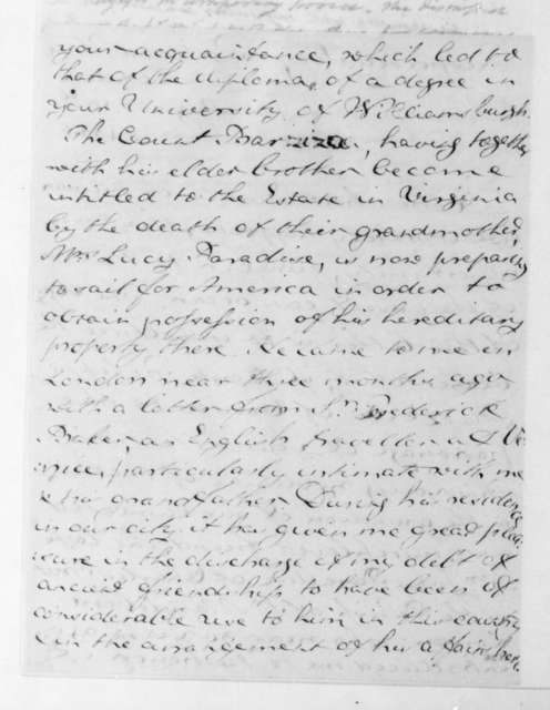 Richard Paul Jodrell to James Madison, August 10, 1815.