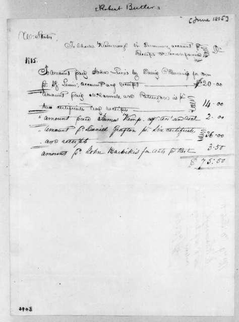 Robert Butler to Charles Kavanaugh