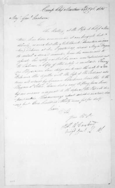 Robert McCausland to Andrew Jackson, February 16, 1815