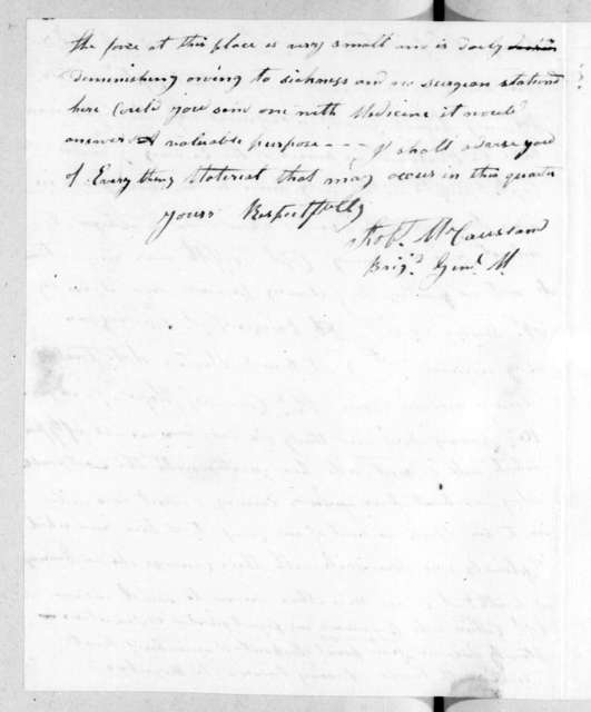 Robert McCausland to William Charles Cole Claiborne, January 20, 1815