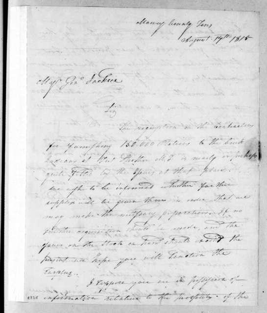 Samuel Polk to Andrew Jackson, August 17, 1815