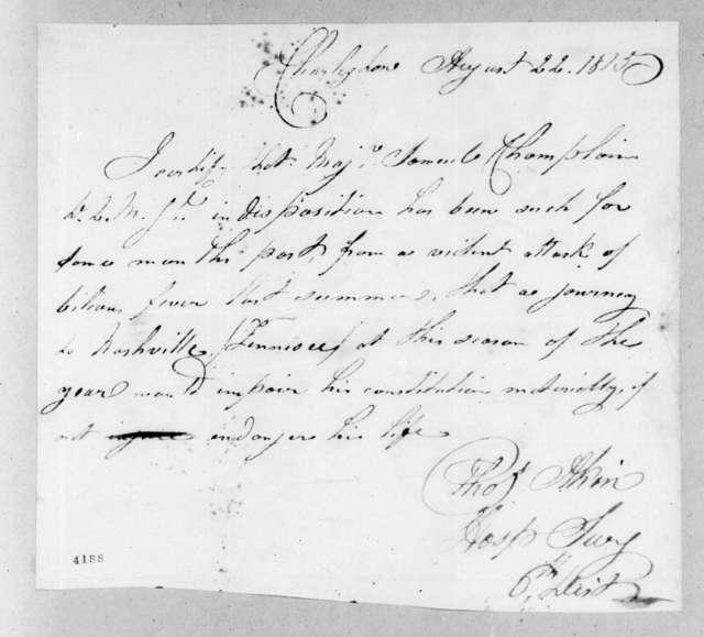 Thomas Akin, August 22, 1815