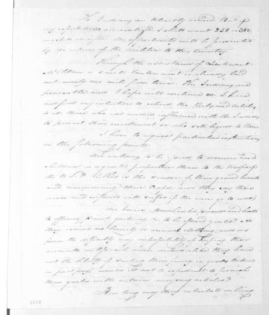 Thomas Gales to Andrew Jackson, February 1, 1815