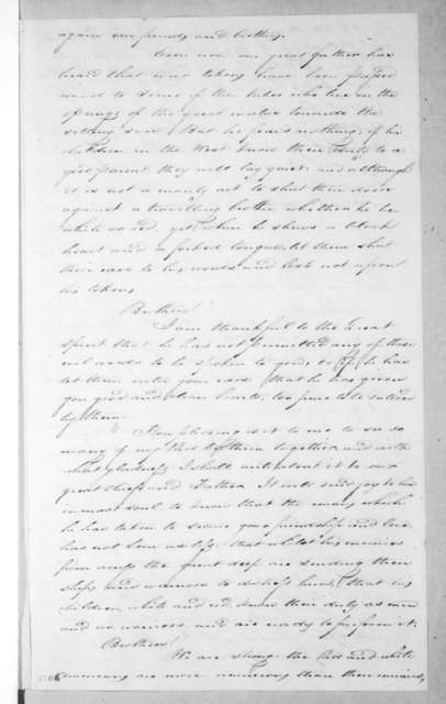 Thomas Gales to Indians at Natchitoches, March 1, 1815