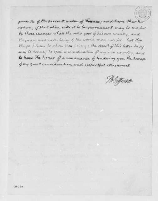 Thomas Jefferson to Anne L. G. N. Stael-Holstein, July 3, 1815