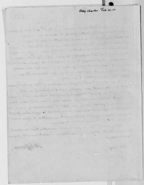 Thomas Jefferson to Charles Clay, February 21, 1815