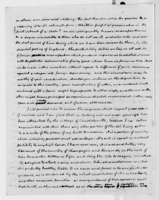 Thomas Jefferson to Jean Baptiste Say, March 2, 1815
