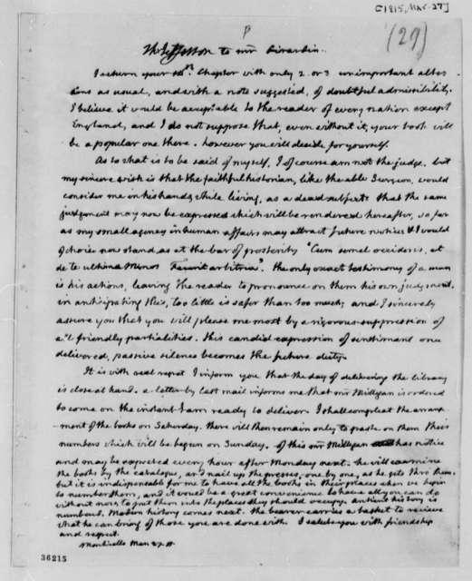Thomas Jefferson to Louis H. Girardin, March 27, 1815