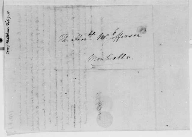 Thomas Jefferson to Matthew Carey, February 9, 1815