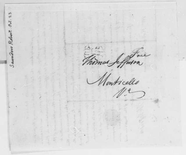 Thomas Jefferson to Robert Saunders, October 23, 1815
