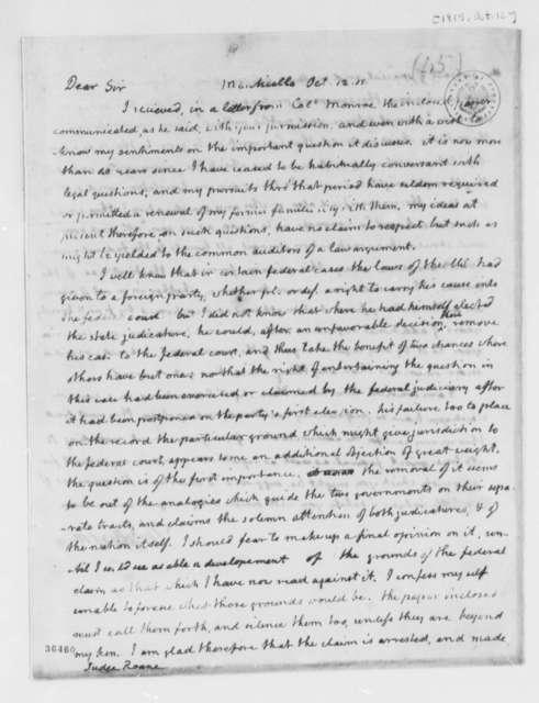 Thomas Jefferson to Spencer Roane, October 12, 1815