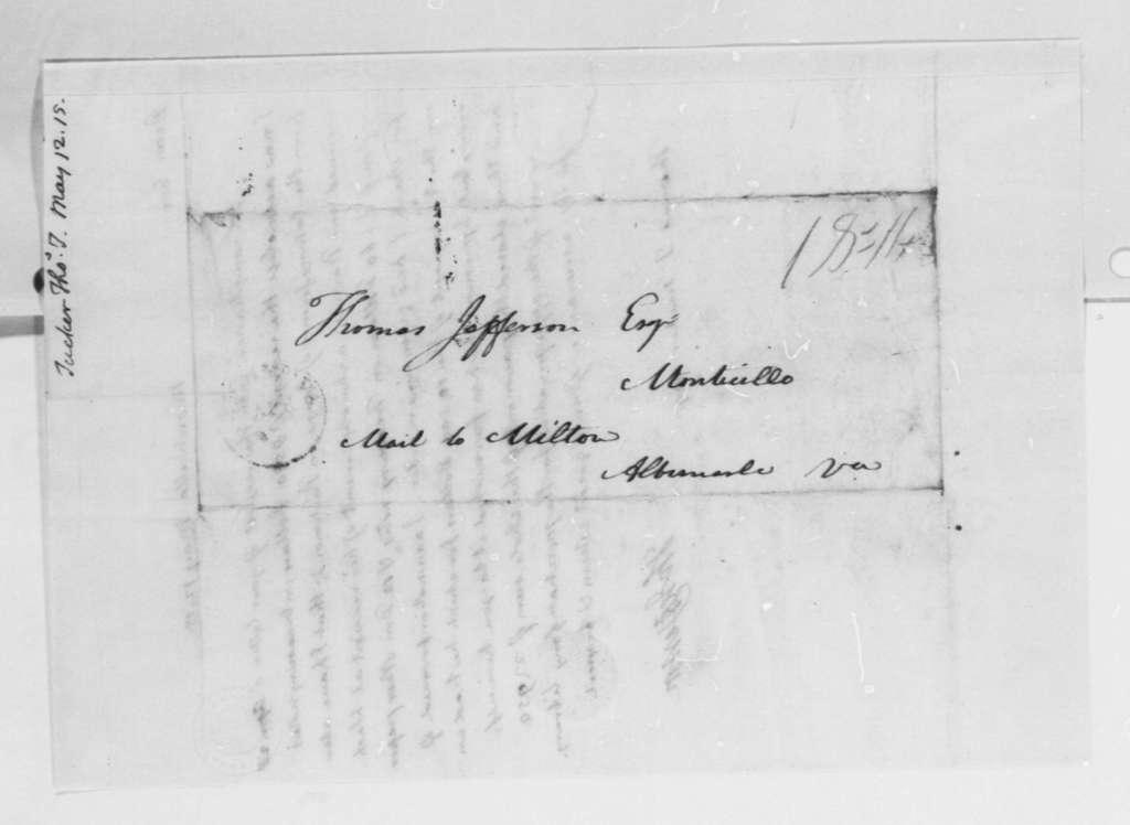 Thomas Jefferson to Thomas Tudor Tucker, May 12, 1815