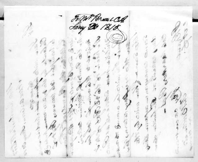 Thomas Langford Butler to J. Brant, January 30, 1815