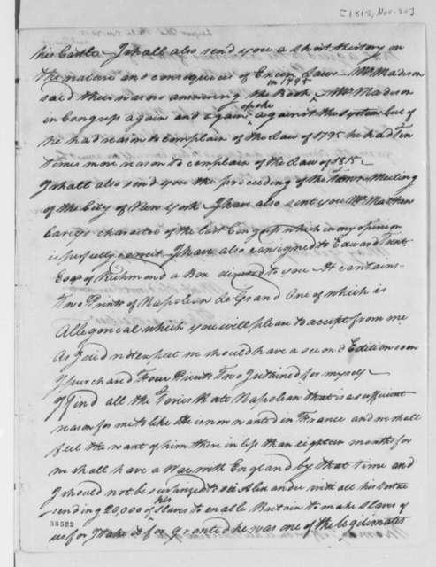 Thomas Leiper to Thomas Jefferson, November 30, 1815