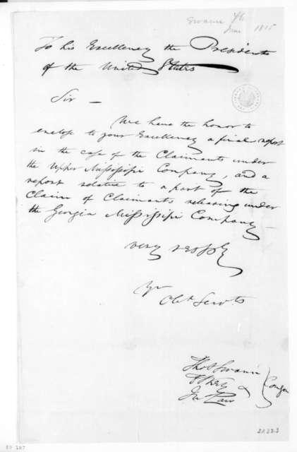 Thomas Swann to James Madison, June, 1815.