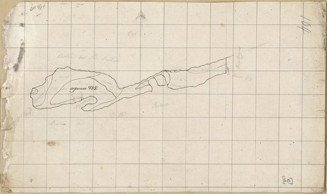 [Unfinished map of a portion of land along Perdido Bay, Spanish West Florida].
