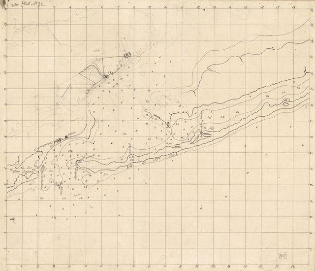 [Unfinished map of Pensacola Bay and Santa Rosa Island].