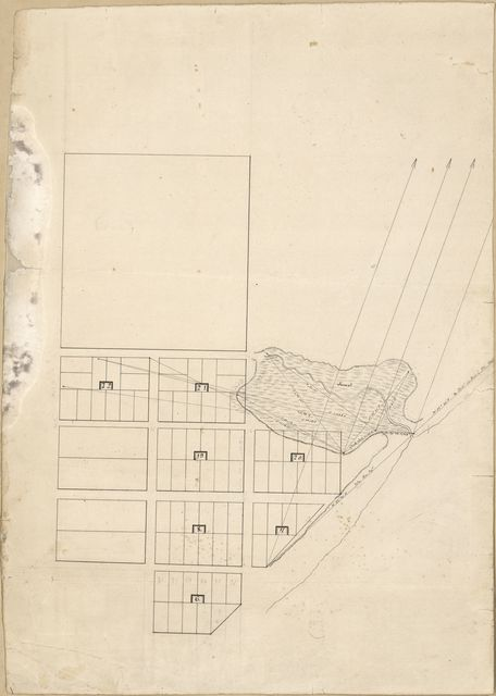 [Unidentified plan of a portion of Pensacola, Spanish West Florida].