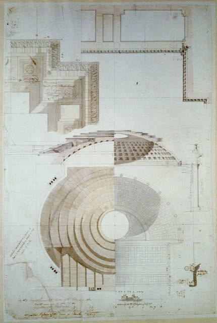 [United States Capitol, Washington, D.C. House of Representatives dome - section & detail, cornices]