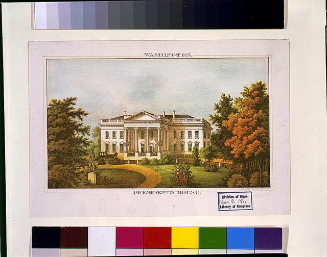 Washington presidents house / lith by E. Sachse & Co. Baltimore.