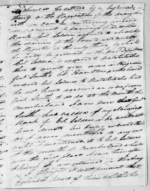 William Bradford to George Croghan, December 17, 1815