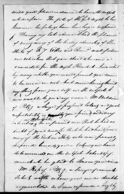 William Carroll to Andrew Jackson, October 4, 1815