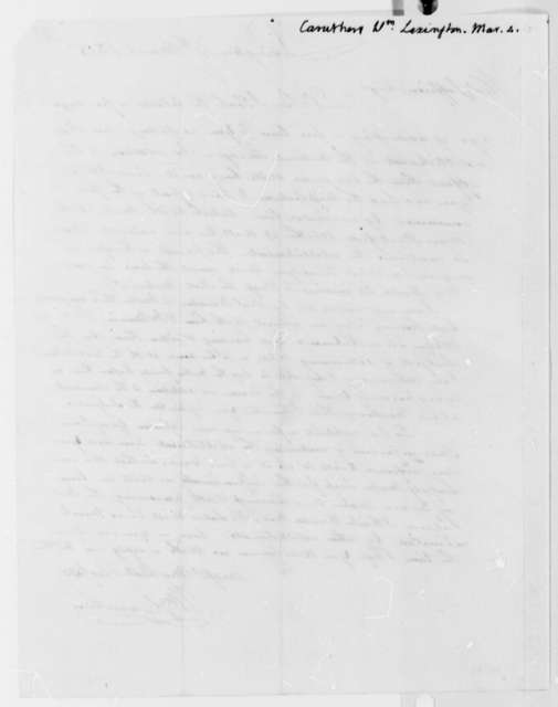 William Caruthers to Thomas Jefferson, March 4, 1815