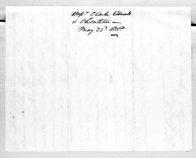 William Clark et al. to Alexander James Dallas, May 22, 1815