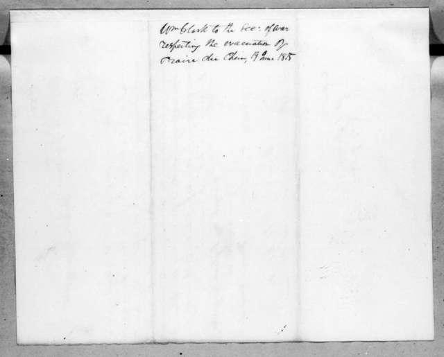 William Clark to Alexander James Dallas, June 19, 1815