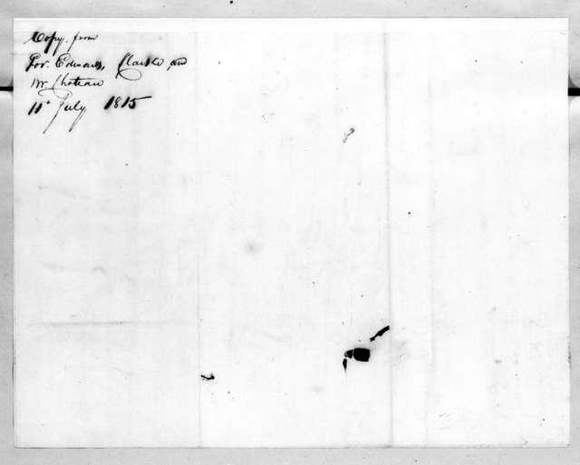 William Clark to Andrew Jackson, July 11, 1815