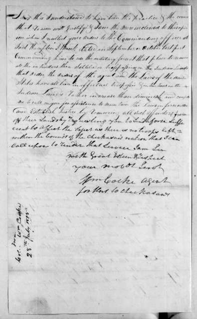 William Cocke to Andrew Jackson, August 18, 1815