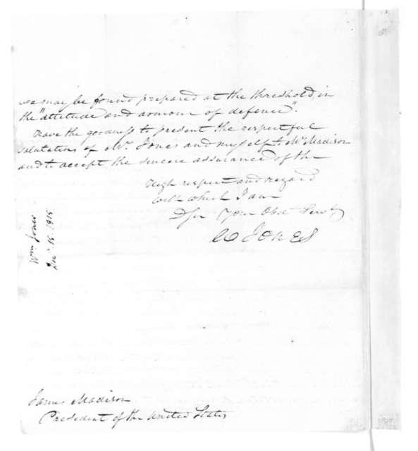 William Jones to James Madison, December 15, 1815.