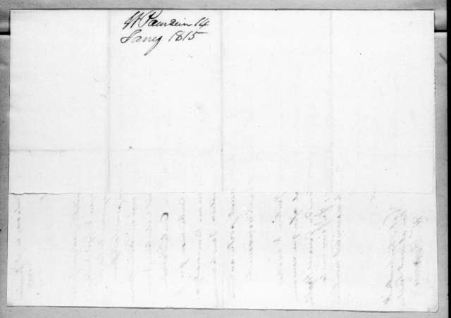 William Poursine to Andrew Jackson, January 15, 1815