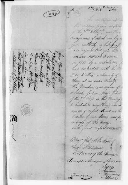 William Preston Anderson et al. to Andrew Jackson, June 21, 1815