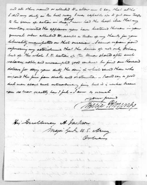 Willie Blount to Andrew Jackson, April 13, 1815