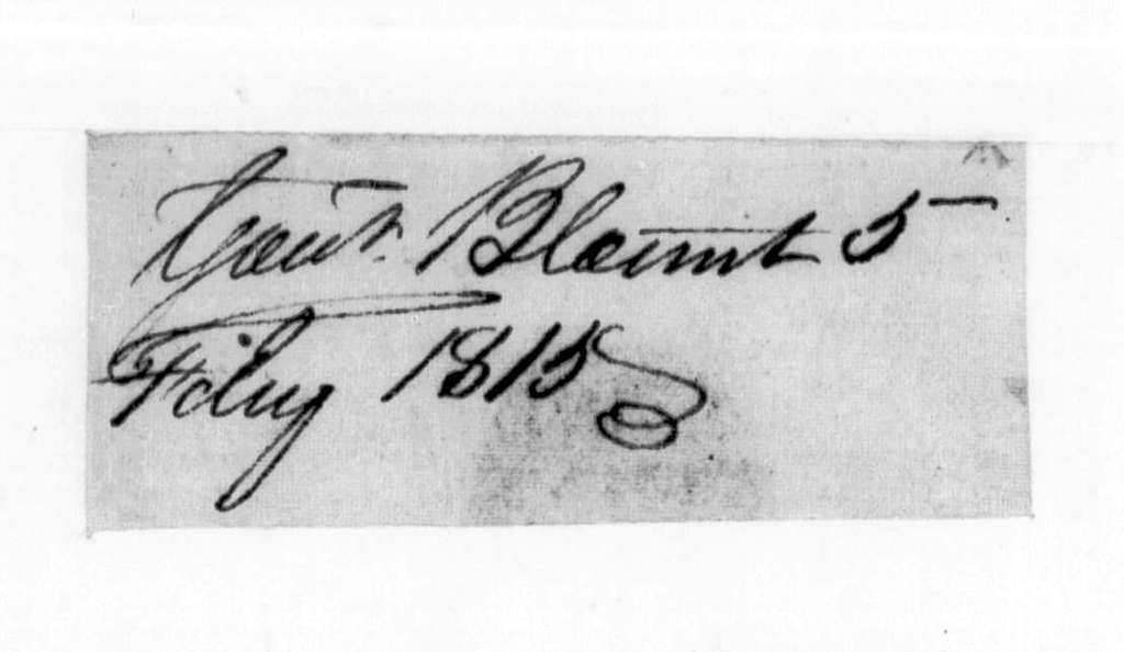 Willie Blount to Andrew Jackson, February 6, 1815