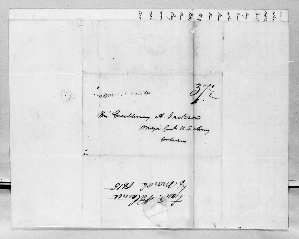 Willie Blount to Andrew Jackson, March 8, 1815