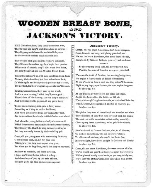 Wooden breast bone, and Jackson's victory. [1815].