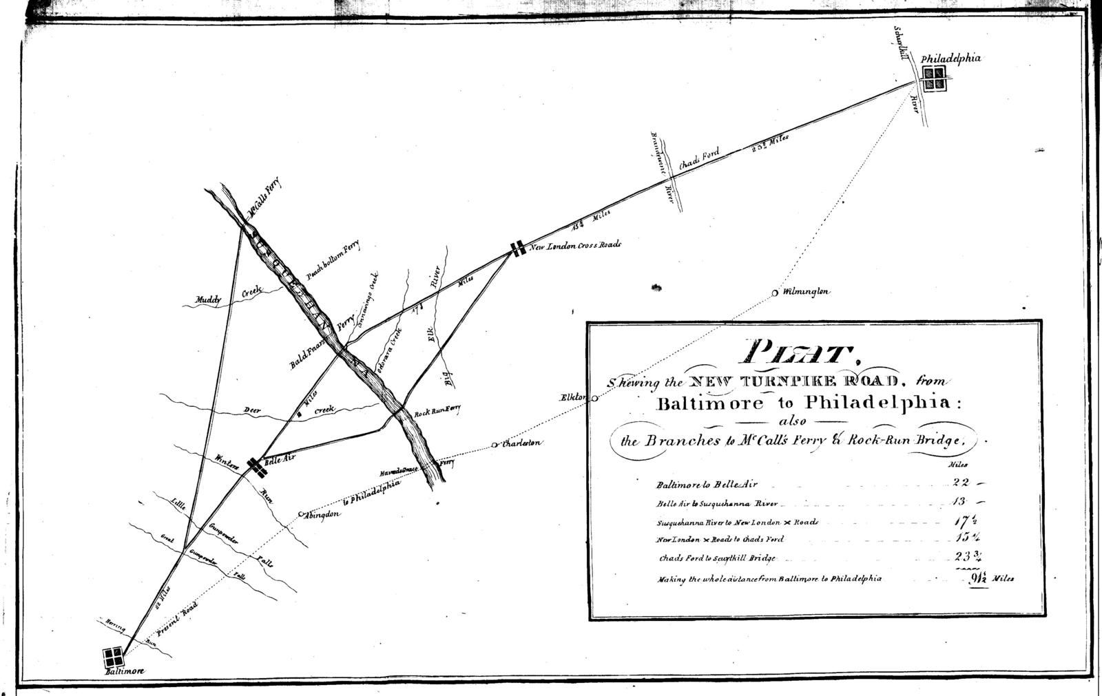 A brief statement of facts, shewing the importance of a bridge over the river Susquehanna, at Connowingo creek, and of the roads to the river Susquehanna, to the growth of the city of Baltimore, and to the comfort and convenience of its inhabitants; with a map, shewing the different routes to Lancaster and Philadelphia.