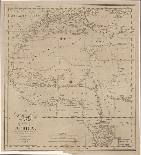 A Map of part of Africa : drawn by the latest authorities to illustrate the narrative of Captain James Riley /