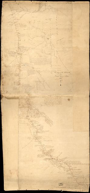 A map of the post-road from Buenos Ayres [sic] to Potosi.