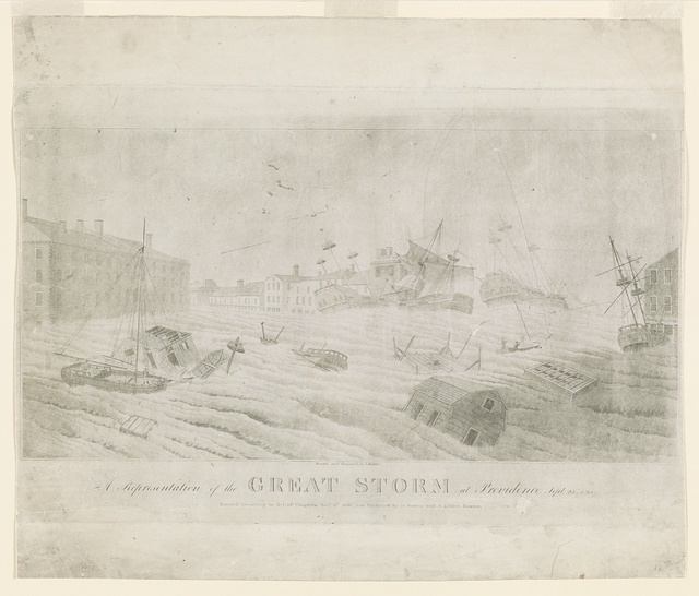 A representation of the great storm at Providence, Sept. 23d 1815 / painted and engraved by J. Kidder.