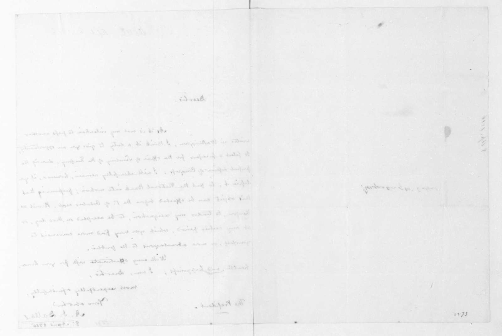 Alexander J. Dallas to James Madison, April 8, 1816.