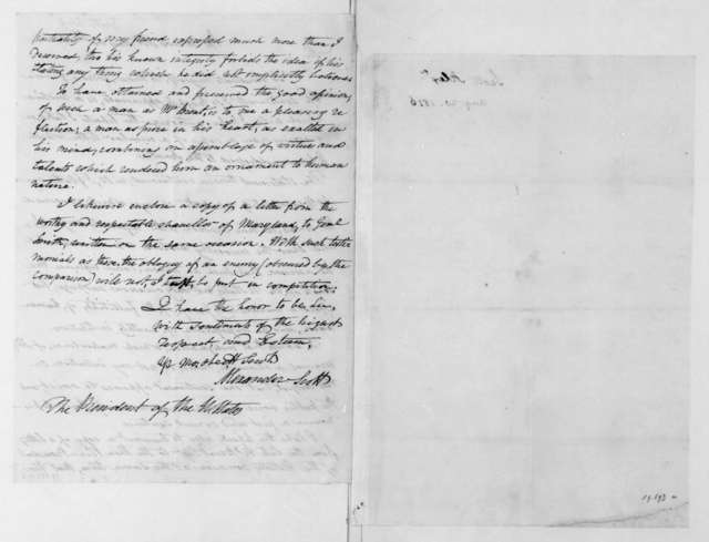 Alexander Scott to James Madison, August 20, 1816. With Circular.